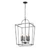 This item: Matte Black 18-Inch Six-Light Pendant