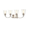 This item: Forsyth Brushed Nickel Four-Light Bath Vanity With Transparent Glass