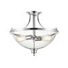 This item: Forsyth Chrome Two-Light Semi Flushmount With Transparent Glass