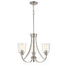 This item: Forsyth Brushed Nickel Three-Light Chandelier With Transparent Glass