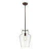 This item: Rubbed Bronze One-Light 12-Inch Pendant With Transparent Glass