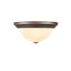 This item: Rubbed Bronze 13-Inch Two-Light Flush Mount