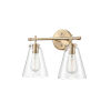 This item: Modern Gold 16-Inch Two-Light Bath Vanity