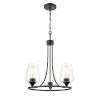 This item: Ashford Matte Black Three-Light Chandelier