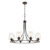 This item: Ashford Rubbed Bronze Eight-Light Chandelier