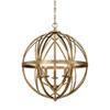 This item: Lakewood Vintage Gold Five-Light Pendant