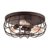 This item: Neo-Industrial Rubbed Bronze Three Light Flush Mount Fixture Ceiling Lamp