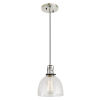 This item: Nob Hill Madison Polished Nickel and Black One-Light Mini Pendant