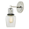 This item: Nob Hill Liberty Polished Nickel and Black One-Light Wall Sconce