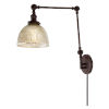 This item: Soho Madison Oil Rubbed Bronze One-Light Swing Arm Wall Sconce