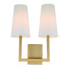 This item: Sullivan Satin Brass 13-Inch Two-Light Wall Sconce
