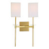 This item: Marcus Satin Brass 13-Inch Two-Light Wall Sconce