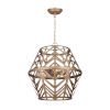 This item: Neva Painted Gold Six-Light Chandelier