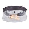 This item: Albany Oil Rubbed Bronze Two-Light Flush Mount