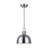 This item: Polo Brushed Nickel One-Light Pendant