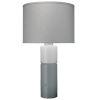 This item: Copenhagen Gray and White One-Light Table Lamp