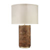This item: Refinery Hand Carved Wood with Matte Brass Metal One-Light Table Lamp