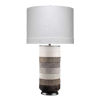 This item: Winslow White Light Gray with Dark Gray Hide One-Light Table Lamp
