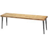 This item: Farmhouse Natural Wood Bench