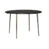 This item: Farmhouse Dark Wood with Antique Silver Legs Bistro Table