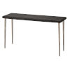 This item: Farmhouse Dark Wood with Antique Silver Legs Console Table