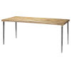 This item: Farmhouse Natural Wood Dining Table