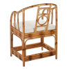 This item: Malacca Burnt Tortoiseshell Rattan with Off White Cushion Arm Chair