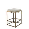 This item: Shelby White Hide with Antique Brass Counter Stool
