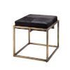This item: Shelby Espresso Hide with Antique Brass Stool