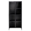 This item: Union Black Iron with Clear Glass Curio Cabinet