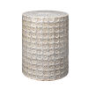 This item: Wildflower Cream Reactive Glaze Side Table