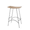 This item: Wing Natural Rattan and Black Steel Bar Stool