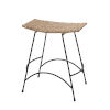 This item: Wing Natural Rattan and Black Steel Counter Stool