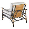 This item: Xanadu Black and Cream Rattan with Off White Cushion Lounge Chair