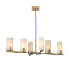This item: Geneva Antique Brass with White Resin Shades Six-Light Chandelier