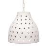 This item: Porous Textured Matte White 12-Inch One-Light Pendant