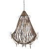This item: Tulum Brown Beads One-Light Chandelier