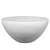 This item: Georgina White Faux Alabaster Bowl