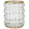 This item: Madison Clear Glass and Antique Brass Metal and Glass Hurricane