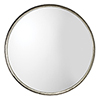 This item: Refined Silver Leaf Round Mirror