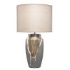 This item: Landslide Matte Gray with Beige and White Drip One-Light Table Lamp