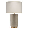 This item: Mortar Gray Cement with Antique Brass One-Light Table Lamp