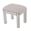 This item: Contempo Hand Rubbed Antique Silver and Clear Mirror 18-Inch Vanity Stool