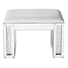 This item: Modern Mirrored Crystal and Leather Vanity stool