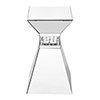 This item: Modern Mirrored Contemporary 20-Inch Crystal End Table
