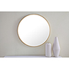 This item: Eternity Brushed Brass Round 24-Inch Mirror
