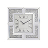This item: Modern Mirrored 20-Inch Grey Crystal Wall Clock