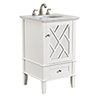 This item: Luxe Frosted White Vanity Washstand