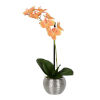This item: Peach Real Touch Phalaenopsis in Metal Pot