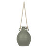 This item: Gray Terracotta Bottle Rope Handle Container